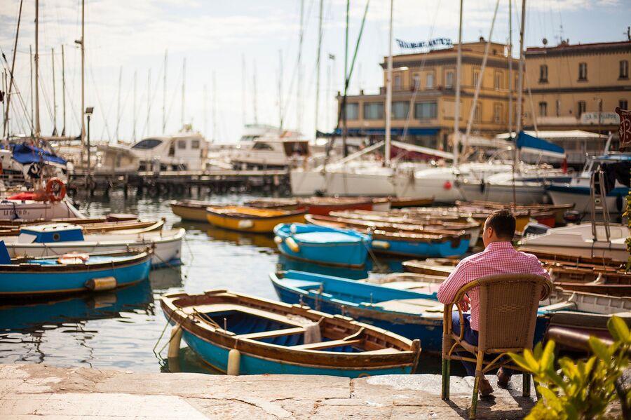 Вид на лодки, Неаполь