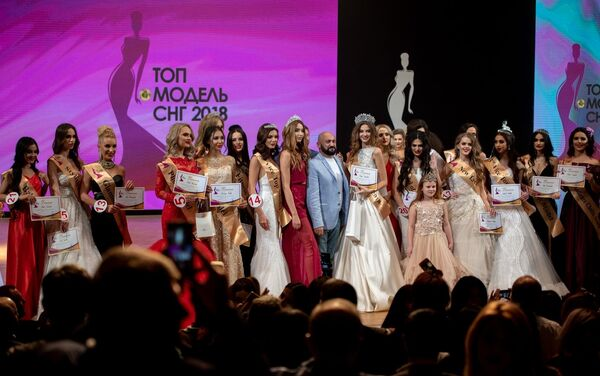 Участницы конкурса красоты Топ-модель СНГ-2018 в Ереване. 4 ноября 2018
