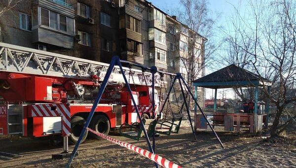 Ликвидация последствий взрыва газа в жилом доме в поселке Приамурский Еврейской автономной области
