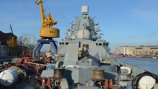 Артиллерийская установка А-192 фрегата Адмирал флота Касатонов