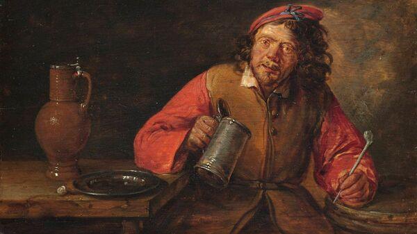 Репродукция картины Пьяница художника Гиллиса ван Тильборга