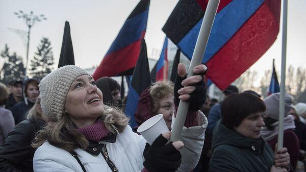 Акция Выбор Донбасса в Донецке