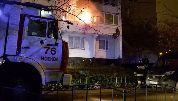 Пожар в жилом доме на юго-западе Москвы. 10 ноября 2018