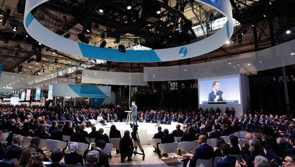 Президент РФ Владимир Путин и другие главы государств и правительств на Парижском форуме мира. 11 ноября 2018
