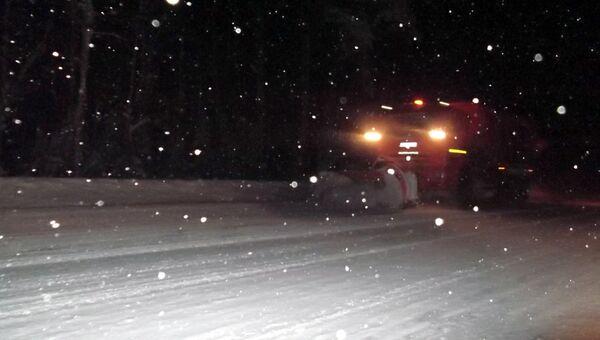 Работы по уборке снега на дороге Дудинка – Алыкель – Норильск. 12 ноября 2018