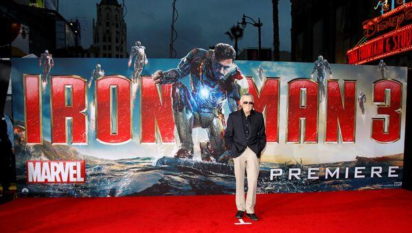 Стэн Ли на премьере фильма Железный человек 3 в Голливуде. 24 апреля 2013