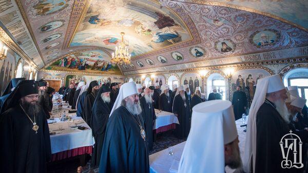 Заседание Священного Синода Украинской православной церкви в Киеве. Архивное фото