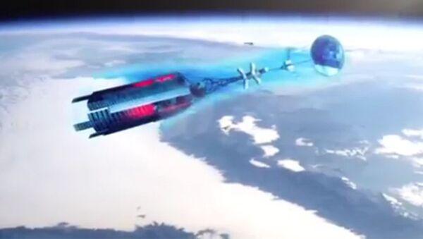 Концептуальный облик нового российского космического аппарата с ядерной энергоустановкой. Архивное фото