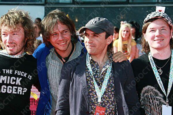 Группа Мумий Тролль перед началом церемонии вручения премии Муз-ТВ