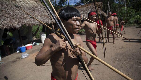 Индейцы племени Яномамо на юге Венесуэлы