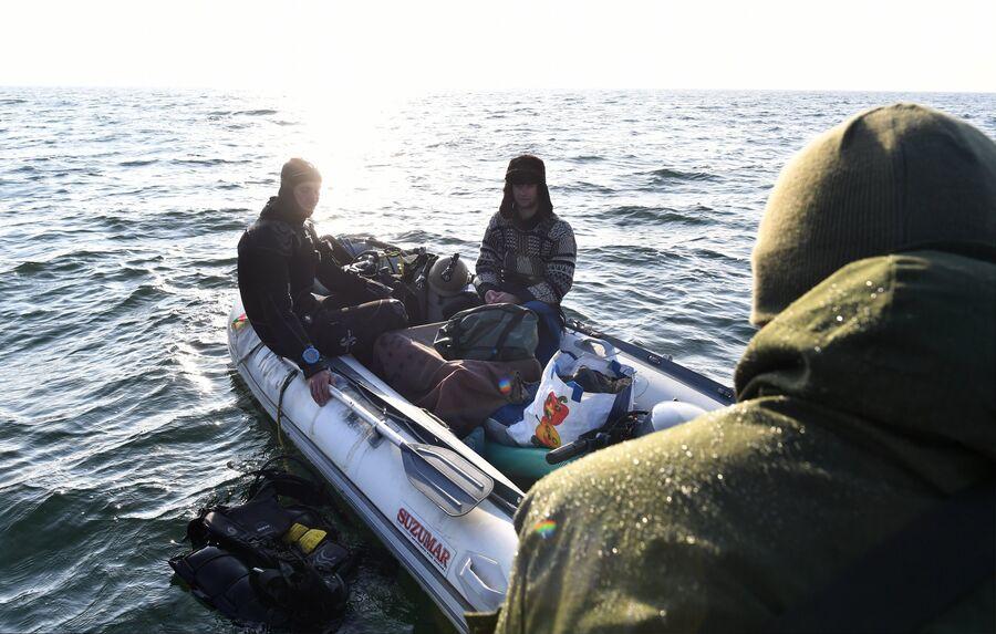 Рейд сотрудников УБОП по выявлению незаконной добычи янтаря в Калининградской области