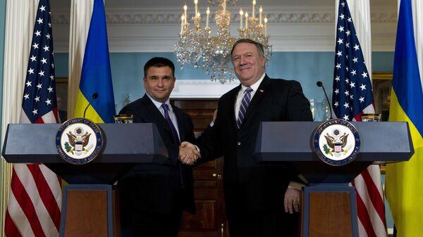 Госсекретарь США Майк Помпео на встрече с главой украинского МИД Павлом Климкиным. 16 ноября 2018