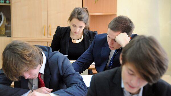 Ученики во время урока