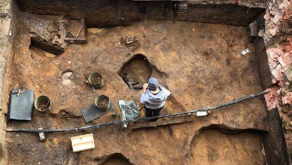 Раскопки на Зарайской стоянке