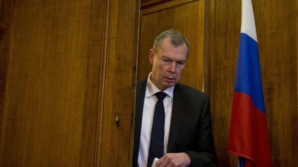 Постоянный представитель России при Организации Объединенных Наций по запрещению химического оружия Александр Шульгин