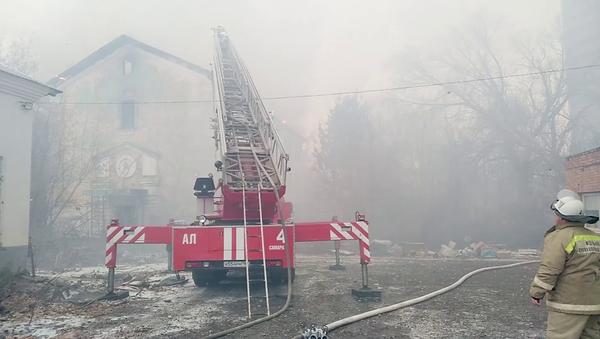 Пожар в заброшенном здании в Самаре. 22 ноября 2018