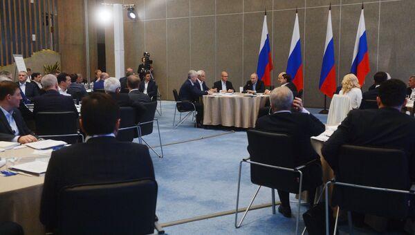Президент РФ Владимир Путин проводит расширенное заседание президиума Госсовета в Ялте. Архивное фото