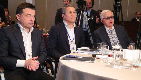 Губернатор Подмосковья Андрей Воробьев принял участие в расширенном заседании президиума Госсовета, посвященном реализации нового майского указа. 23 ноября 2018