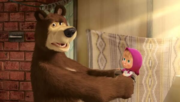 Кадр из мультфильма Маша и Медведь
