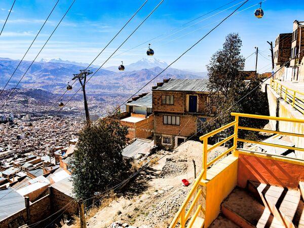Канатная дорога в Боливии