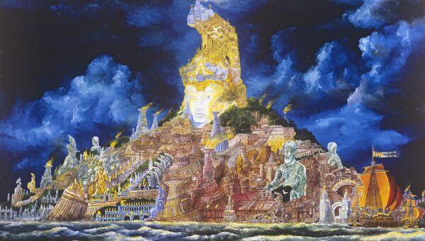 Репродукция картины Атлантида художника Владимира Смирнова. 1979 год.
