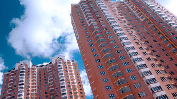 Строительство жилого микрорайона в Красногорском районе Московской области. Архивное фото