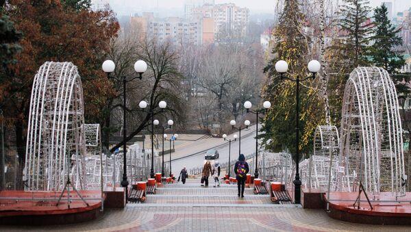 Лестница на Петровском спуске в Липецке