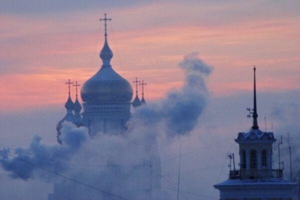 Вид города Хабаровска. Архив