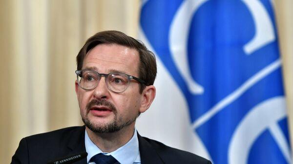 Генеральный секретарь ОБСЕ Томас Гремингер во время встречи в Москве с министром иностранных дел РФ Сергеем Лавровым