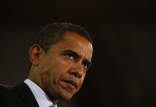 Кандидат в президенты США Барак Обама во время предвыборной кампании