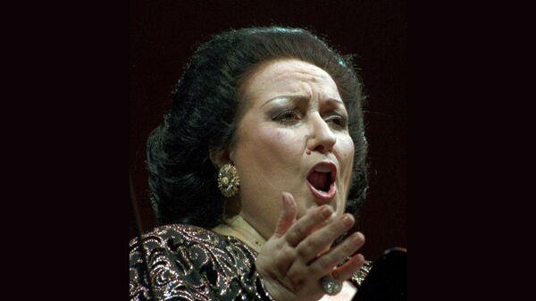 Испанская певица Монсеррат Кабалье