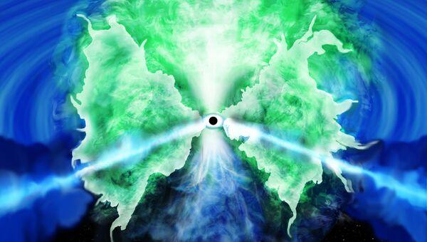 Так художник представил себе диск аккреции у черной дыры