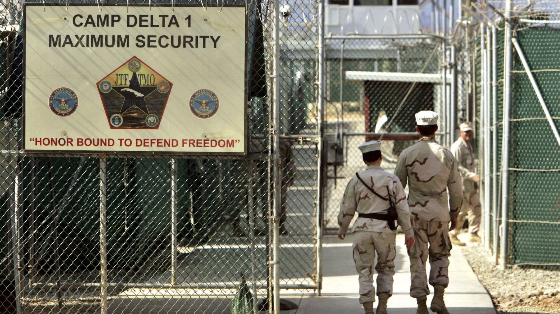 Тюрьма в Гуантанамо на территории военно-морской базы на Кубе - РИА Новости, 1920, 05.04.2021