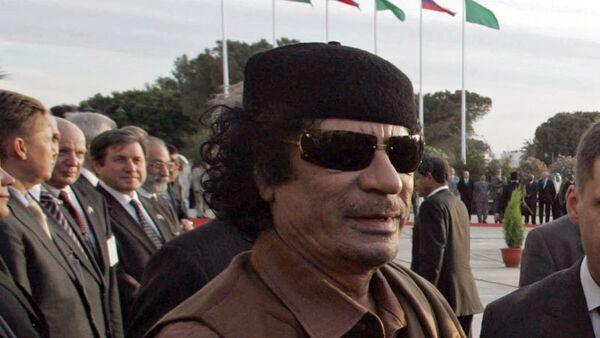 Лидер ливийской революции Муамар Каддафи