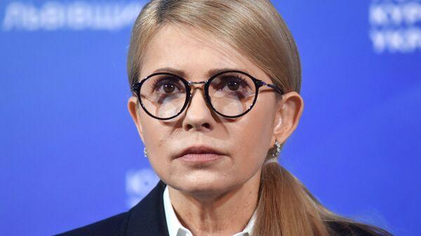 Кандидат в президенты Украины, лидер всеукраинского объединения Батькивщина Юлия Тимошенко