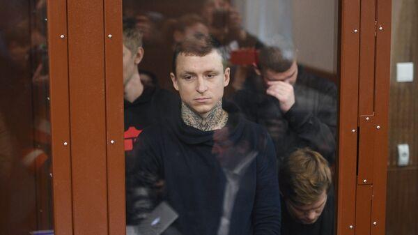 Футболист Павел Мамаев, обвиняемый в хулиганстве и побоях, на заседании Тверского районного суда Москвы. 5 декабря 2018