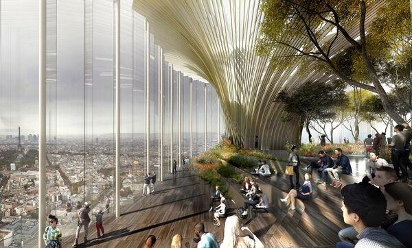 Проект здания Tour Montparnasse в Париже, победивший в категории Glass Future Prize, supported by Guardian Glass на Всемирном фестивале архитектуры