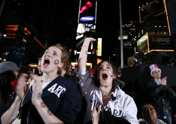 Избиратели Барака Обамы радуются результатам выборов