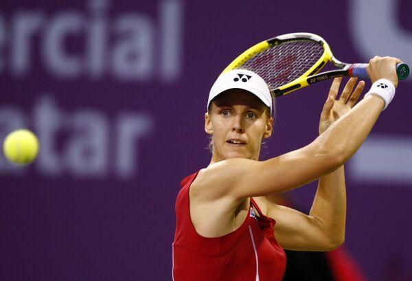 Елена Дементьева на турнире в Катаре