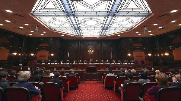Заседание Конституционного суда по делу об административной границе между Чечней и Ингушетией