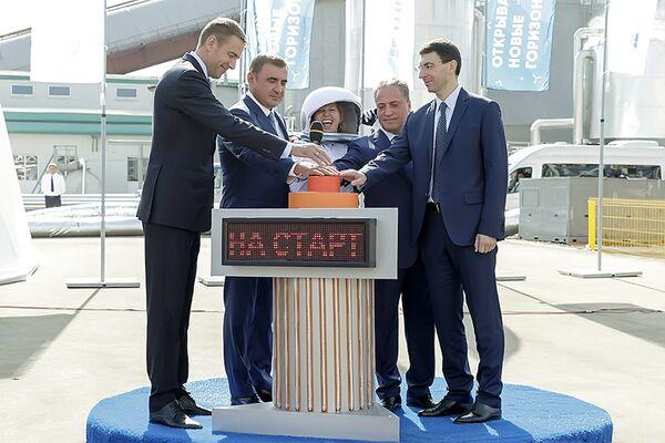 Церемония открытия совмещенного комплекса по выпуску метанола и аммиака