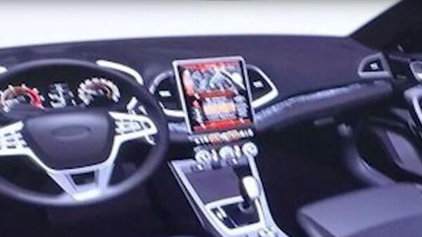 Рендер нового интерьера Lada Vesta