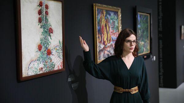 Главный хранитель Музея русского импрессионизма Наталья Свиридова  нового проекта РИА Новости в формате дополненной реальности. 9 декабря 2018