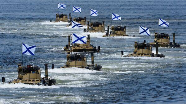 Высадка роты морской пехоты Тихоокеанского флота