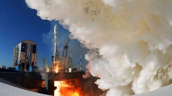 Запуск ракеты Союз-2.1а с космодрома Восточный