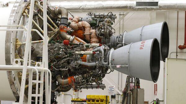 Двигатели РД-181 на ракете-носителе Antares на космодроме Уоллопс