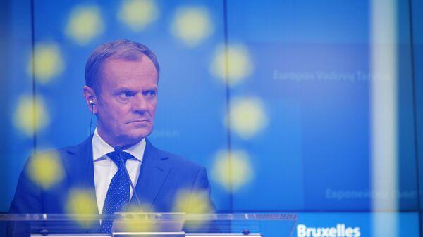 Председатель Европейского совета Дональд Туск на саммите Европейского совета (ЕС) в Брюсселе. 14 декабря 2018