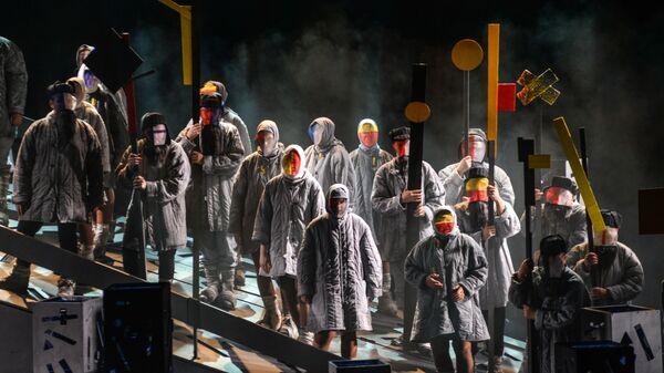Сцена из оперы Родина электричества в рамках открытия Платоновского фестиваля в Воронеже