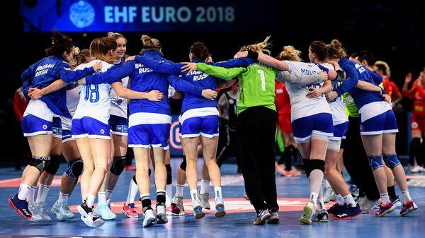 Гандболистки сборной России радуются выходу в финал чемпионата Европы