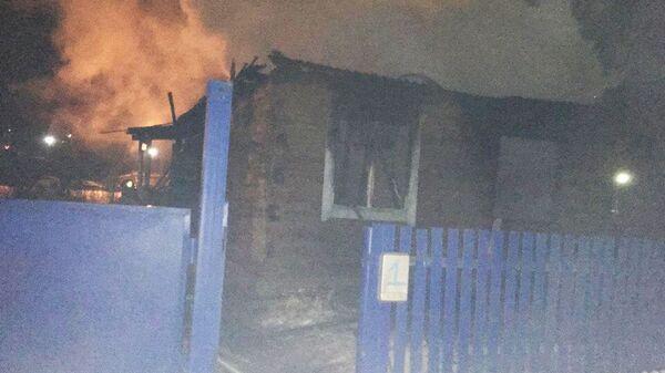 Пожар в жилом доме в селе Кандры, республика Башкортостан. 16 декабря 2018